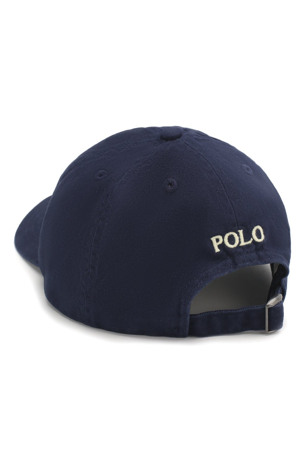 Бейсболка с логотипом бренда Polo Ralph Lauren синего цвета   Фото №2