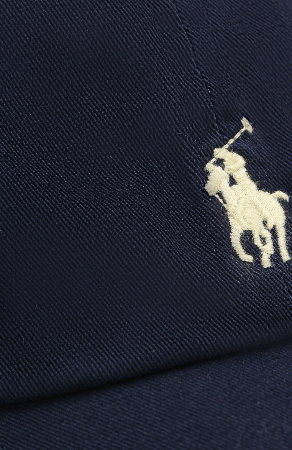 Бейсболка с логотипом бренда Polo Ralph Lauren синего цвета   Фото №3