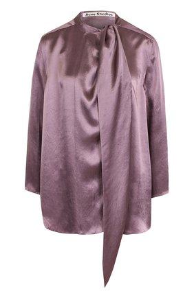 Шелковая блуза свободного кроя | Фото №1