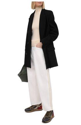 Женские комбинированные кроссовки valentino garavani rockrunner с принтом VALENTINO хаки цвета, арт. PW2S0291/TNL | Фото 2
