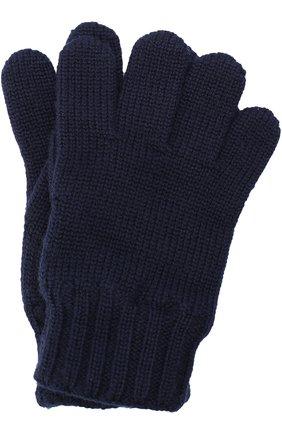 Детские шерстяные перчатки DOLCE & GABBANA синего цвета, арт. 0131/LB6A09/LK5T0 | Фото 1 (Материал: Шерсть; Статус проверки: Проверено)