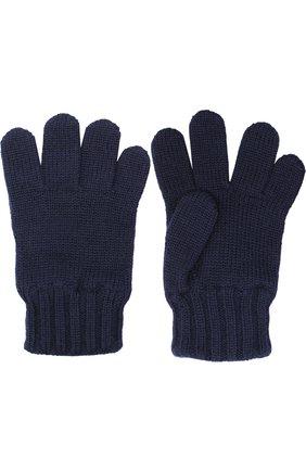 Детские шерстяные перчатки DOLCE & GABBANA синего цвета, арт. 0131/LB6A09/LK5T0 | Фото 2 (Материал: Шерсть; Статус проверки: Проверено)