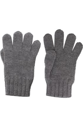 Детские шерстяные перчатки DOLCE & GABBANA серого цвета, арт. 0131/LB6A09/LK5T0 | Фото 2 (Материал: Шерсть; Статус проверки: Проверено)