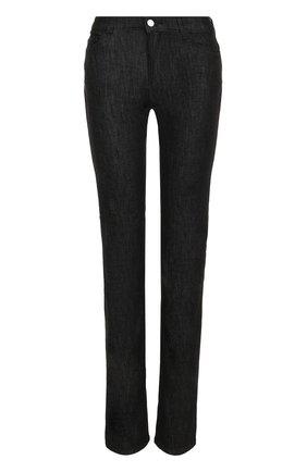 Однотонные расклешенные джинсы с карманами Armani Jeans черные | Фото №1