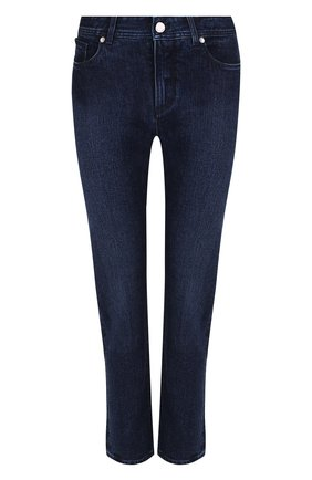 Женские однотонные джинсы прямого кроя LORO PIANA синего цвета, арт. FAF4049 | Фото 1
