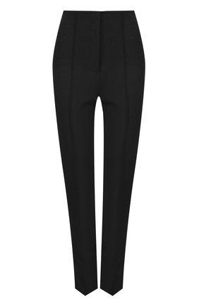Укороченные однотонные брюки со стрелками   Фото №1