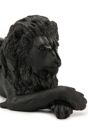 Мужского скульптура лев DAUM черного цвета, арт. 02435-1 | Фото 2