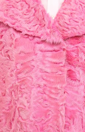 Шуба прямого кроя из меха ягненка Valentino фуксия | Фото №5