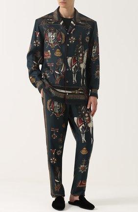 Мужского домашние текстильные туфли vittoria DOLCE & GABBANA черного цвета, арт. 0111/A80055/AG944 | Фото 2