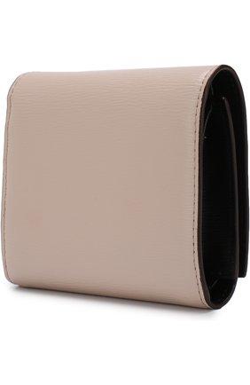 Кожаный кошелек DKNY светло-розового цвета | Фото №1
