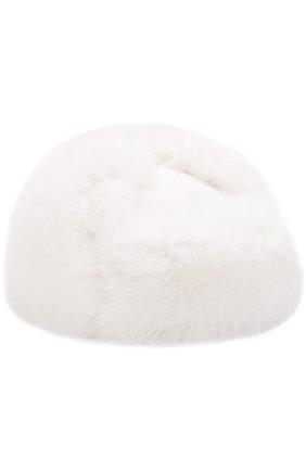 Кашемировая шапка Alaskan с отделкой из меха лисы | Фото №1