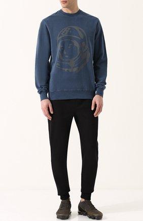 Хлопковый свитшот с принтом Billionaire Boys Club темно-синий | Фото №1