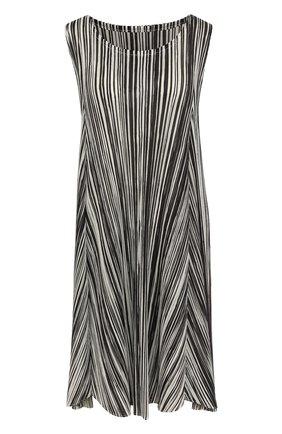 Плиссированное платье-миди свободного кроя | Фото №1