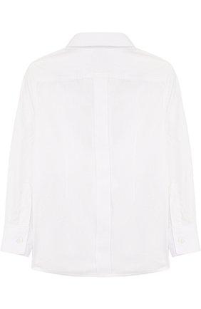 Детская хлопковая рубашка прямого кроя DOLCE & GABBANA белого цвета, арт. L41S70/FU5GK/2-6 | Фото 2