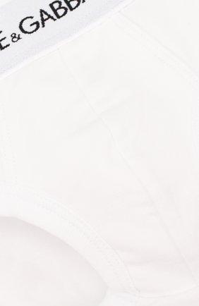 Детские комплект из двух брифов с логотипом бренда DOLCE & GABBANA белого цвета, арт. L4U700/0YG09 | Фото 3