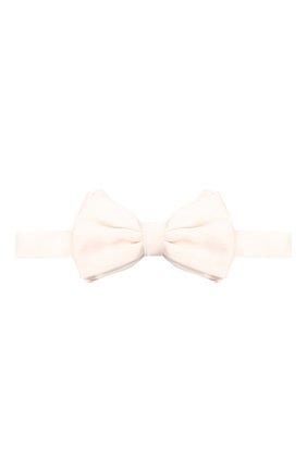 Мужской шелковый галстук-бабочка GIORGIO ARMANI белого цвета, арт. 360031/8P998 | Фото 1