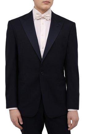 Мужской шелковый галстук-бабочка GIORGIO ARMANI белого цвета, арт. 360031/8P998 | Фото 2