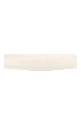 Мужской шелковый камербанд GIORGIO ARMANI белого цвета, арт. 360033/8P998 | Фото 1
