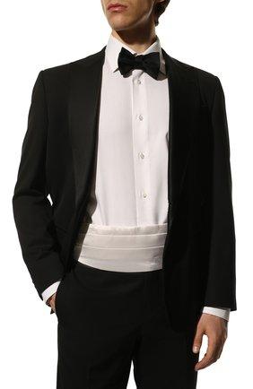 Мужской шелковый камербанд GIORGIO ARMANI белого цвета, арт. 360033/8P998 | Фото 2