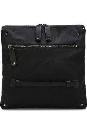 Текстильная сумка-планшет Valentino Garavani с камуфляжным принтом | Фото №1