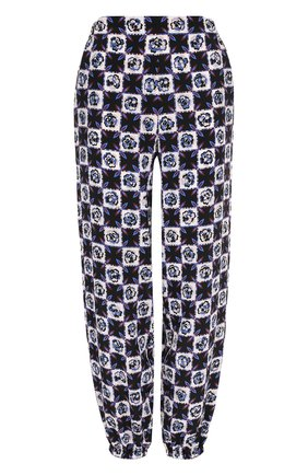 Шелковые брюки с карманами и принтом | Фото №1