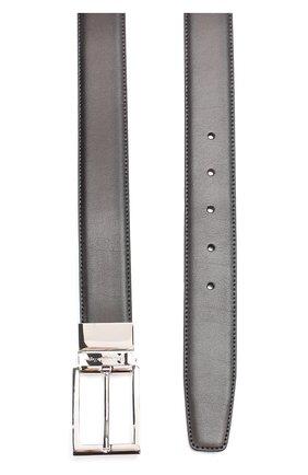 Мужской кожаный ремень с двумя сменными пряжками ERMENEGILDO ZEGNA темно-коричневого цвета, арт. BB0X19/VIT | Фото 2