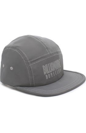 Бейсболка с логотипом бренда Billionaire Boys Club серебряного цвета | Фото №1