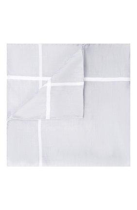 Мужской хлопковый платок с узором и контрастным кантом SIMONNOT-GODARD серого цвета, арт. N0CTURNE | Фото 1