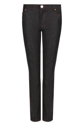 Женские джинсы прямого кроя с контрастной прострочкой VALENTINO темно-синего цвета, арт. PB3DD03L/2HN | Фото 1