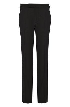 Мужской шерстяные брюки прямого кроя TOM FORD черного цвета, арт. 222R97/610043 | Фото 1