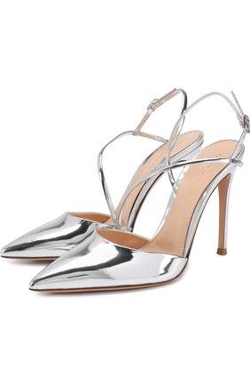Туфли Manhattan из металлизированной кожи на шпильке | Фото №1