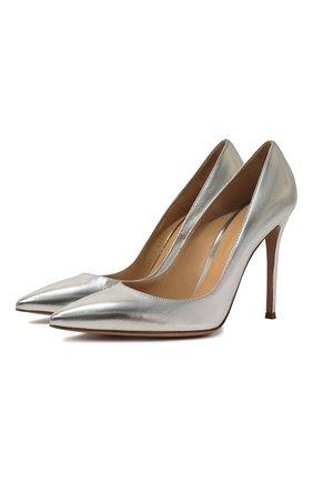 Туфли Gianvito 105 из металлизированной кожи на шпильке