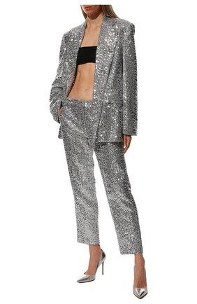 Женская кожаные туфли gianvito 105 GIANVITO ROSSI серебряного цвета, арт. G28470.15RIC.NPSARGE   Фото 2