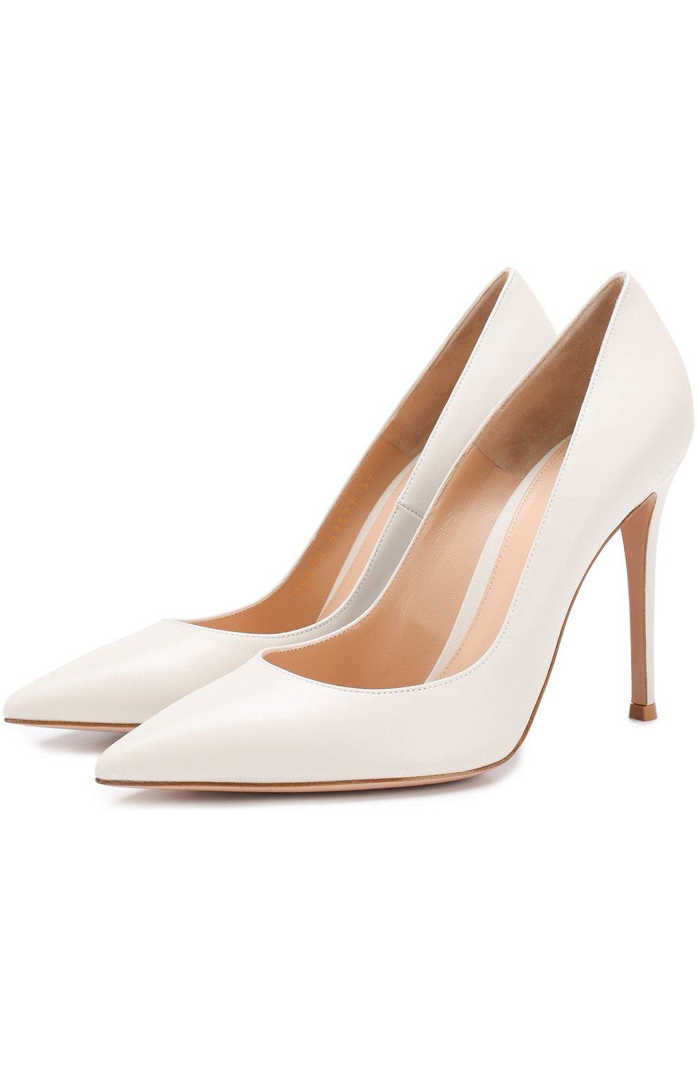Кожаные туфли Gianvito 105 на шпильке   Фото №1