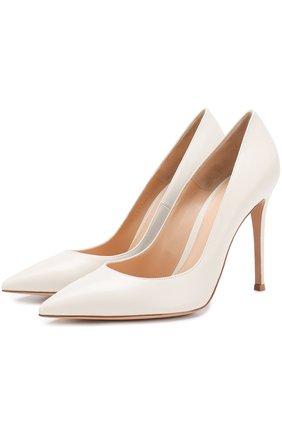 Кожаные туфли Gianvito 105 на шпильке