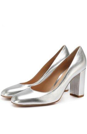 Туфли Linda из металлизированной кожи на устойчивом каблуке