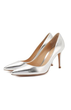 Женская кожаные туфли gianvito 85 GIANVITO ROSSI серебряного цвета, арт. G24580.85RIC.NPSARGE   Фото 1