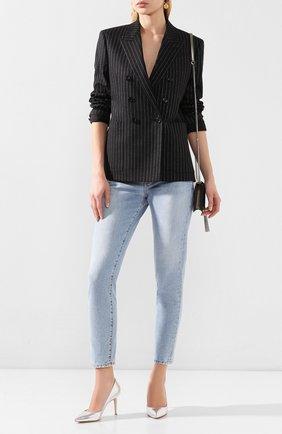 Женская кожаные туфли gianvito 85 GIANVITO ROSSI серебряного цвета, арт. G24580.85RIC.NPSARGE   Фото 2