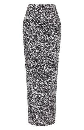 Плиссированная юбка-карандаш с принтом | Фото №1