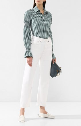 Женские кожаные мокасины gommini TOD'S белого цвета, арт. XXW00G000105J1B015 | Фото 2