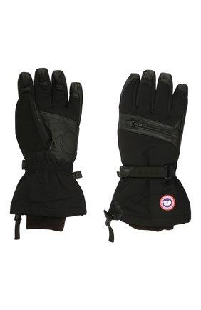 Мужские утепленные перчатки с манжетами CANADA GOOSE черного цвета, арт. 5154M | Фото 2