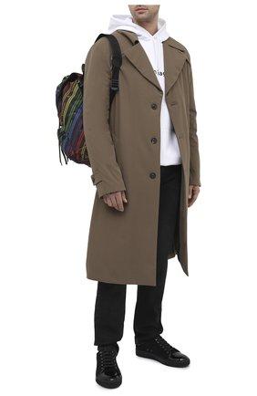 Мужские замшевые кеды LANVIN черного цвета, арт. FM-SKDBB1-VBAL-P15 | Фото 2