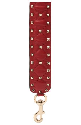 Женские кожаный ремень для сумки valentino garavani rockstud spike VALENTINO красного цвета, арт. PW2P0P37/NAP | Фото 2