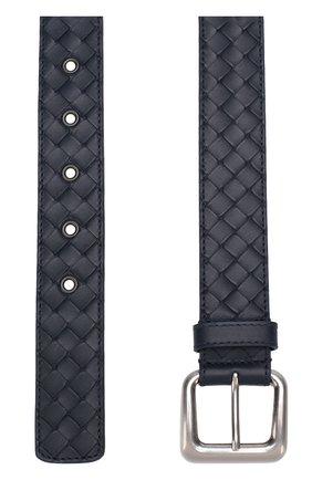Мужской кожаный ремень с металлической пряжкой BOTTEGA VENETA темно-синего цвета, арт. 271932/V465V | Фото 2