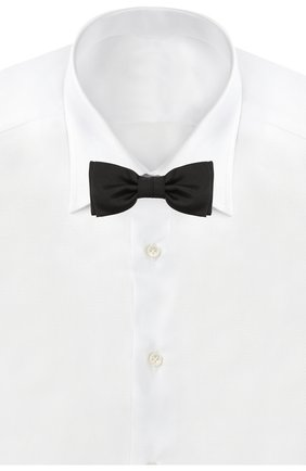 Мужской шелковый галстук-бабочка HUGO черного цвета, арт. 50291359 | Фото 2
