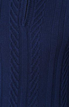 Кашемировый свитер фактурной вязки с воротником на молнии | Фото №5