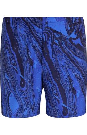 Детского плавки-шорты с принтом LA PERLA синего цвета, арт. 0014800 | Фото 1