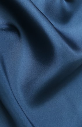 Мужской шелковый платок с контрастным кантом DOLCE & GABBANA бирюзового цвета, арт. GR412E/G0U4C   Фото 2