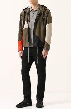 Мужские кожаные кеды LANVIN черного цвета, арт. FM-SKDBNL-VENU-P18 | Фото 2