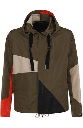 Утепленная куртка на молнии с капюшоном